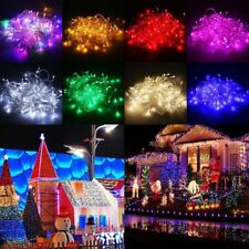 10/15/20m LED Solar Fairy String Light Outdoor Wedding Christmas Party Lamp CX