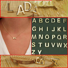 Gold Plated Initial Alphabet Letter A-Z Heart Pendant Chain Necklace Chok new CN