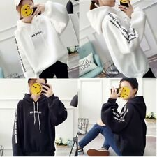 Girls Loose Long Sleeves Warm Hooded Sweatshirt with Fashion Letters Print XP