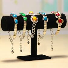 Velvet T-Bar Jewelry Rack Bracelet Necklace Stand Organizer Holder Display LCY
