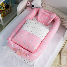 Baby Nest 6 Set Cot Crib Bed Positioner Sleep Cover Mattress Removable Cotton