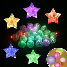 100PCS Round LED Flash Ball Lamps Balloon Lights for Paper Lantern Party Wedding