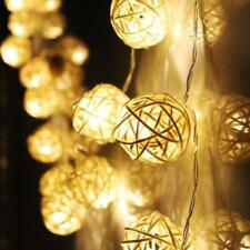 10 LED ColorS Rattan Ball String Fairy Lights For Xmas Wedding Party Hot