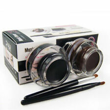 Eyeliner Brown Black Gel Make Up Waterproof Smudge-proof Eye Liner Set Kit