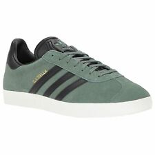 Adidas Gazelle Trace Green Core Black Mens Suede Low-Top Ortholite Trainers