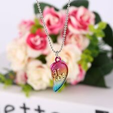 "3PCS Friendship ""Best Friends Forever"" Heart Pendant Necklaces kids Christmas HL"