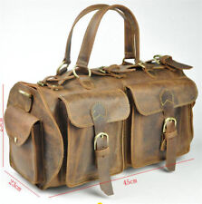 Vintage Men's Handmade Genuine Leather Satchel Handbag Shoulder Messenger bag