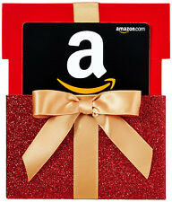 AMAZON Gift Card in a RED Gift Box Reveal | 15$ 20$ 25$ 50$ 100$ Ammount Cards