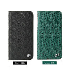 Fierre Shann Crocodile Pattern Real Leather Flip Case Cover For iPhoneX 8 7 Plus