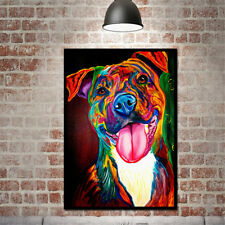 Unframed Oil Painting Colorful Dog Modern Simple Huge Wall Art On Canvas J