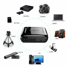 LESHP 1080P LCD Projector 3200LM 16:9 Home Cinema HDMI VGA USB for Laptop TV XP