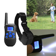 Electric Shock 1 Dogs Remote Control Training Collar Anti-Bark Rechargeable LCD