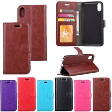 Fashion Leather Card Photo Slot Flip Wallet Cover Case For iPhone X 8 Plus/7 6
