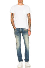 BALMAIN 1785$ Authentic New Skinny Blue Distressed Biker Jeans