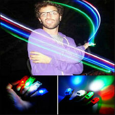 16~100PCS LED Finger Lights Lamps Party Laser Finger NEW Light Torch Glow Ring