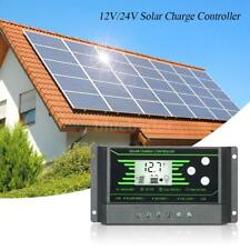 Solar Charge Controller 12V 24V LCD Display Dual USB Solar Panel Charger D3Y2