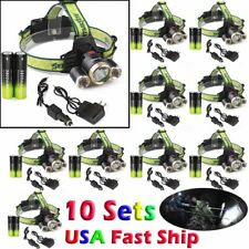 50000LUMENS 3xT6 LED Headlamp Headlight Head Torch 18650 Charger Flashlight !