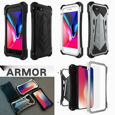 Armor Waterproof Shockproof Tempered Glass Metal Case Cover fr iPhone X 7 8 Plus