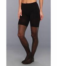SPANX Patterned TIGHT-END TIGHTS Metallic Luxe Black/Silver A Ret:$32 New /Tags