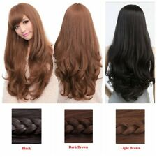 Anime Womens Cosplay Hair Wigs 70Cm Long Curly Wavy Full Wig Costume Party Dress