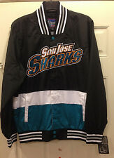 San Jose SHARKS Track Jacket - RIPSTOP NYLON COLOR-BLOCKED JACKET by JH Design