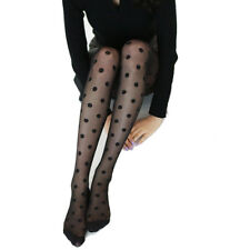 Women's lolita Sexy Retro Sheer Lace hosiery Big Dot Pantyhose Stockings Tights