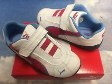 Puma Kids Tune Cat V Unisex White / Rosered / Blue Sneakers Toddler Size 8, 10