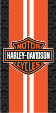 Harley Davidson Racing Stripes Towel