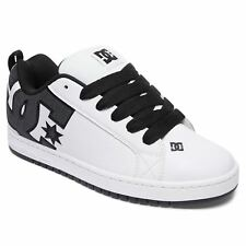 DC Shoes Court Graffik SE White Charcoal Mens Sneakers Casual Low-Top Trainers