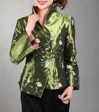 Women New Arrival Printed Style Silk Fabric Satin Embroidery Material Jacket