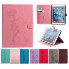 Folio Flower Girl Leather Wallet Stand Auto Smart  Case Cover For Apple iPad