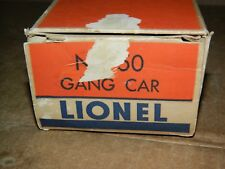Vintage Original Lionel box only for 50 Gang Car, Nice but not perfect