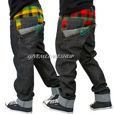 Brooklyn Mint star check jeans, bar straight denim g time is money hip hop rock