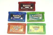 Pokemon Emerald Ruby Sapphire Fire Red Leaf Green GBA Game USA