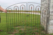 Center Divide Gate 6'w x 4't Wrought Iron All Hoop Entry Gate