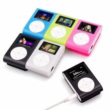 Mini USB Clip MP3 Player LCD Screen Support 32GB Micro SD TF Card Music Media