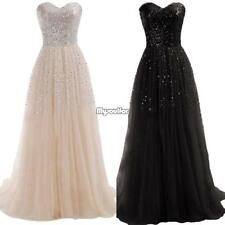 Women Sexy Strapless Sequins Cocktail Party Ball Gown Evening Long Maxi Dress ❤