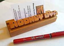 Desk Name / Business Card Holder - Custom Made, Cherry, Maple, Oak, Walnut Wood