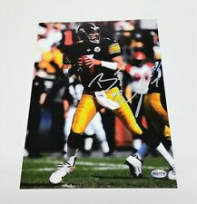 BEN ROETHLISBERGER AUTOGRAPHED PITTSBURGH STEELERS 8 X 10 ACTION PHOTO
