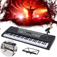 Music Electronic 54-61 Key Keyboard Electric Piano Organ w/ 3 Lesson Stand Type