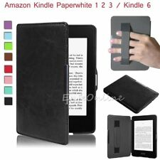 For Amazon Kindle Paperwhite Kindle 6 Slim Premium Leather Skin Smart Case Cover