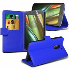 Leather Stand Wallet Case Cover With LCD Screen Protector For BlackBerry Models