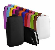 "For Uhappy UP720 (5"") Protective Faux Leather Pull Tab Pouch Case Cover"