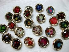 10 Pretty Buttons, different Patterns,Patterns selectable,approx. 12mm , K14