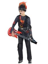 Kids Rock Zombie Cosplay Dress Band Costume Boys Girls Party Punk Rockstar 292