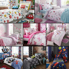 Catherine Lansfield Colourful Kids Childrens Duvet Quilt Cover Sets