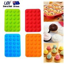 24 Cavity Muffin Cup Cookie Cupcake Silicone Baking Pan Tray Mold Mould Mini Pro