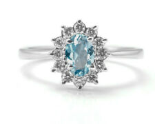 Sterling Silver Ring with Blue Topaz Natural Gemstone Oval Cut Handmade ebay