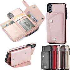 Leather Wallet Credit Card Slot Stand Back Cover Case for Phone Samsung Galaxy