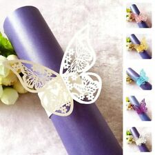 50pcs Butterfly Shape Paper Napkin Ring Holder Wedding Party Table Decorations